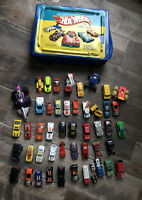 VINTAGE HOT WHEELS CASE 1986 and LOT OF HOT WHEELS, MATCHBOX, ETC CARS 1964-80s