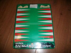 Vintage House Martin Backgammon Set Visipac Complete Free P+P