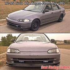 Mu-gen Style Front Bumper Lip (PP) Fits 92-95 Honda Civic 4dr