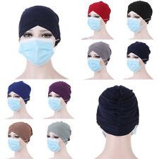 Women Muslim Turban Hats Solid Headscarf Bonnet Inner Hijab Chemo Cap Head Wrap