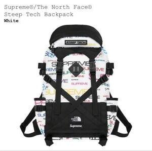 SUPREME X THE NORTH FACE STEEP TECH BACKPACK White