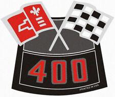 400 CHROME AIR CLEANER VINTAGE STYLE DECAL STICKER CHEVY CAMARO CHEVELLE NOVA