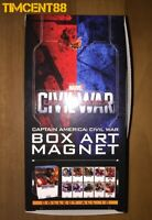Ready! Hot Toys Captain America: Civil War Box Art Magnet Set of 10 New