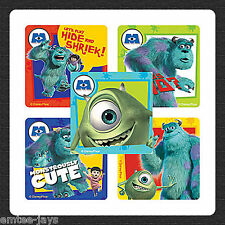 Monsters Inc. Stickers x 5 - Party Favours & Supplies- Sully/Mike Wazowski