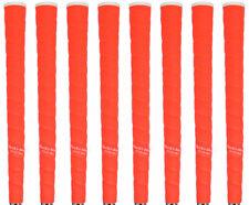Tacki Mac Tour Pro Plus NEON Orange Jumbo (+1/8) Golf Grips - Set of 8 - NEW