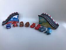 Squinkies Disney Pixar Cars  Lot of 8 Car PCS & 2 Ramps GRT DEAL EUC! LOT of 10!