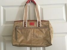 NWOT COACH Beige Canvas/Leather Satchel Handbag L0682-10663