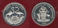 Bahamas - 2 Dollars 1976 Flamands PROOF FDC Argent Silver 23 000 exemplaires