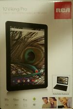 "RCA 10"" Viking Pro 2-in-1 32GB Android Tablet GPS 32GB Quad HD W/Detach Keyboard"