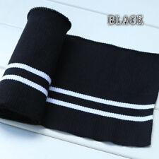 Elastic Cotton Knitted Trim Fabric Waistband Leg Rib Jersey Baseball Jacket New