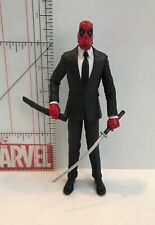 "Custom Marvel 6.5"" Deadpulp Fiction Deadpool Formal Mercenary Figure with Sword"