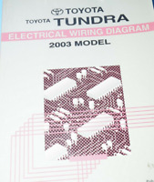 2003 Toyota Tundra Electrical Wiring Diagram Repair Manual Ebay