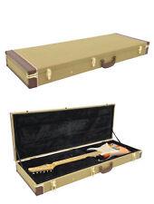 Custodia Rigida per Chitarra Elettrica Stratocaster Telecaster Tweed
