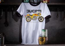 Ducati Motorcycle Ringer T-Shirt - Size Large 46''