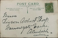 Antique Postcard with King George V Half Penny Stamp Early 1900's