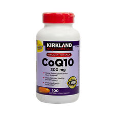 Kirkland Signature CoQ10 300mg 100 Softgels, Heart Support, Maximum Potency
