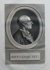 MONTESQUIEU Oeuvres 5 vol. grand in-4 1796 Grand Papier 14 planches & 2 cartes