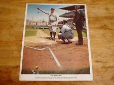1976 Robert Thom Great Moments in Baseball Babe Ruth Color Print Chevrolet