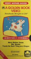 A Golden Book Video Merry Mother Goose & Mrs Mooley-TESTED-RARE VINTAGE-SHIP N24
