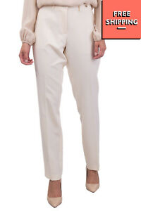 BLUGIRL FOLIES Chino Style Trousers Size IT 44 / M Metal Logo Pleated Front