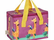 Giraffe zoo animal cooler lunch box bag ladies girls school lunch picnic gift