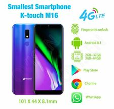 World's Smallest 4G LTE Smartphone 32G/64GB Android 8.1 Dual Sim Fingerprint M16