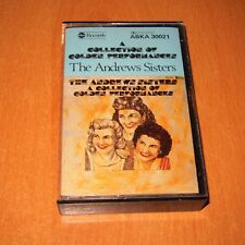 THE ANDREWS SISTERS - A COLLECTION OF GOLDEN PERFORMANCES - AUSTRALIA CASSETTE