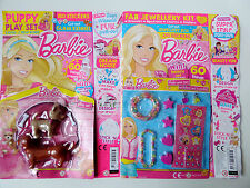 2 Barbie Magazines #329 & 327 With Puppy Dog Play Set Girls Jewellery & Stickers