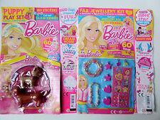 2 Revistas De Barbie #329 y 327 con Cachorro perro Juego Niñas Joyería y Pegatinas