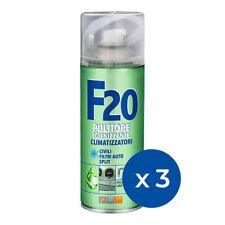 Kit 3 Spray Igienizzante Disinfettante Condizionatore Climatizzatore Faren F20