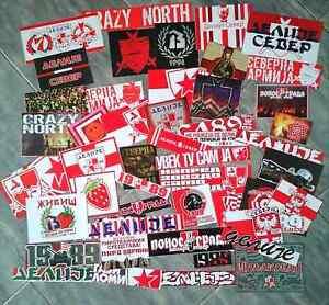 50 x Football Ultras Stickers Delije-Sever RED STAR BELGRADE