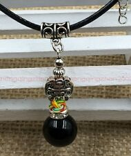 Handmade Tibet silver life natural obsidian beads red rope man necklace pendant