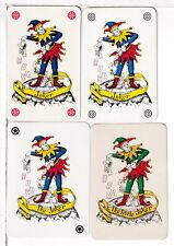 "Four Single Playing Card Jokers ""Belgium Jokers"", 1970's, 1 Wide/3 Narrow"