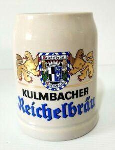 Reichelbrau kulmbacher German Beer Stein Vintage 70s Ceramic Mug Pot Rare 0.5L