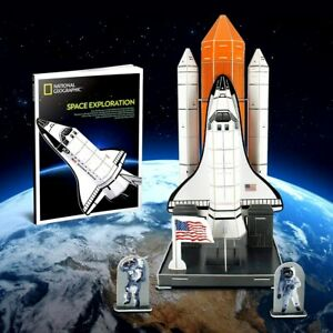 National Geographic NASA Space Exploration Shuttle 3D Model Puzzle Building Kit