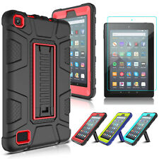 For Amazon Fire 7 2019 / HD 8 2018 Tablet Stand Case Cover With Screen Protector