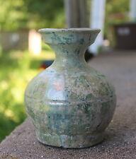 25-220AD Chinese Han Dynasty Green Glazed Hu Vase Urn - w/ HK Authenticity
