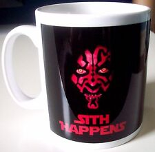 Star Wars Sith Happens Darth Maul funny 10oz mug
