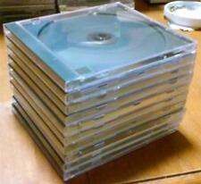 Lot of 10 Standard-Sized, Hard-Plastic, Clean Empty CD Jewel Cases - Black Trays