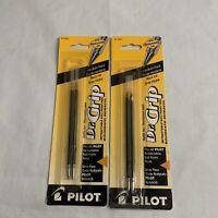 Lot of 2 Pilot Dr. Grip Ballpoint Pen Refills for Retractable Pens Medium Black