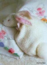 Vintage Old Bunny Rabbit Nightdress case Knitting pattern Soft Toy Easy to make
