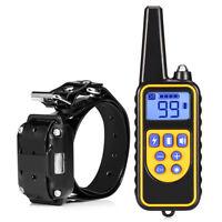Mascota Perro Collar Adiestramiento Recarge pantalla LCD choque eléctrico 800M