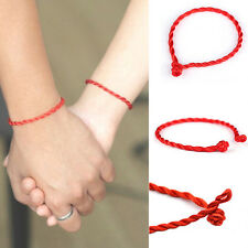 10pcs Chinese Red Lucky Hand Braided String Rope Cord Bracelet Lover Simple DIY