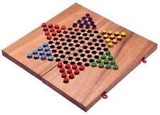 Stern Halma Chinese Checkers Gesellschaftsspiel Strategiespiel aus Holz Gr. L