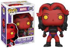 Marvel She-Hulk Rojo Figura de vinilo Pop! - Nuevo en la acción SDCC 2017 Caja Dentada