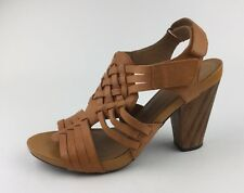 Clarks Indigo Womens Leather Sandals Heels Sz US 9