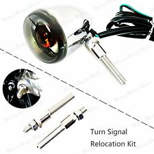 Turn Signal Relocation Kit For Harley Dyna Street Bob Super Glide 39mm Fork