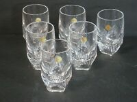 Waterford Crystal Mixology Neon Set of 6 Shot/Whiskey Glasses New & Mint in Box!