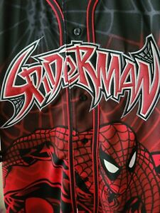 Spiderman Marvel DC XL Jersey by Changes 2001 NWT Button down shirt