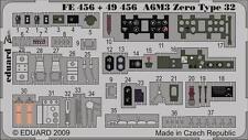Eduard Zoom fe456 1/48 Mitsubishi A6M3 'ZERO' TIPO 32 HASEGAWA